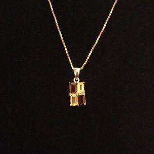 Jewelry - Sterling/Garnet/Citrine